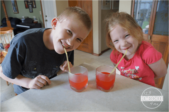 air pressure and straws science experiment