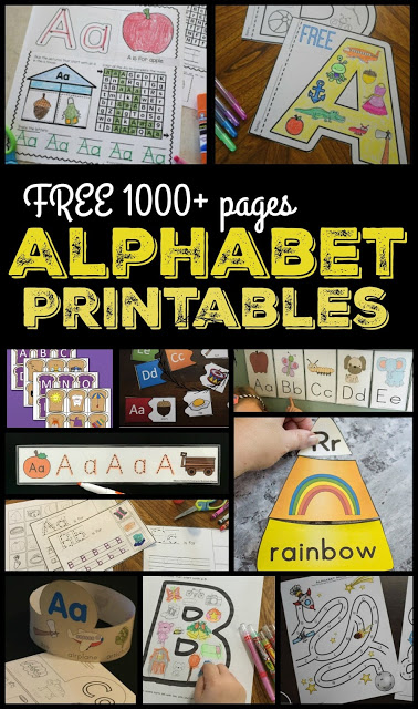 FREE Alphabet Printables - over 1000 pages of alphabet worksheets, alphabet puzzles, alphabet games, and more for toddler, preschool, kindergarten, and first grade to practice writing letters, color alphabet pictures, cut and paste, and more! #alphabet #alphabetworksheets #alphabetprintables