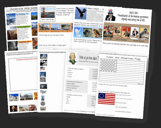 american-symbols-printable-worksheets