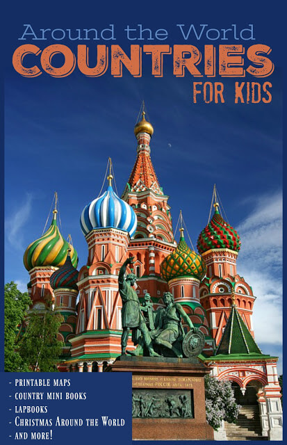 Countries for Kids - so many fun, clever, free printable maps, worksheets, country books, Christmas Around the World and more for kids to learn about other countries of the world. Perfect for preschool, kindergarten, first grade, 2nd grade, 3rd grade, 4th grade, 5th grade, 6th grade kids #aroundtheworld #geography #countriesforkids