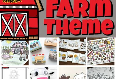 Learn all about farms with this delightful week-long, educational farm theme. Pick your favorite farm activities including farm math, farm literacy printables, farm science projects, farm social studies ideas, and farm crafts to have a marvelous week learning with your kids! This life on the farm theme filled with barnyard animals is perfect for preschool, pre-k, kindergarten, first grade, 2nd grade, and 3rd grade students.