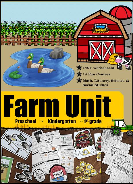 Farm Unit For Pre-k, Kindergarten And Grade 1