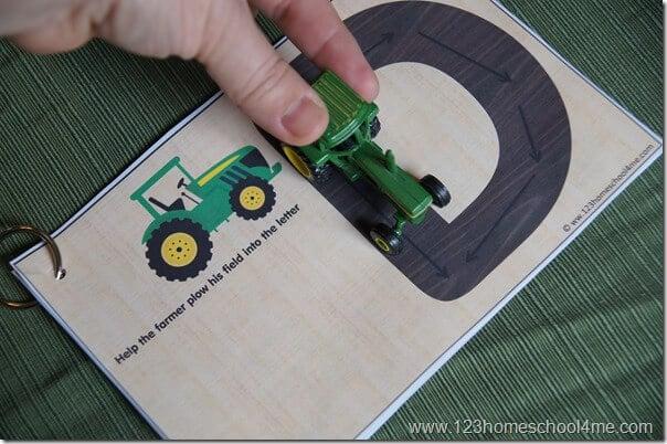 Alphabet Tracing - hands on letter practice kids activity for toddler preschool