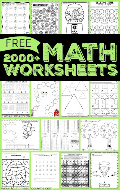 Math Worksheets & Games | 123 Homeschool 4 Me