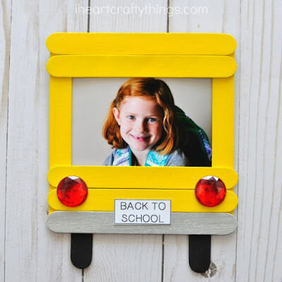 school bus back to school keepsake craft