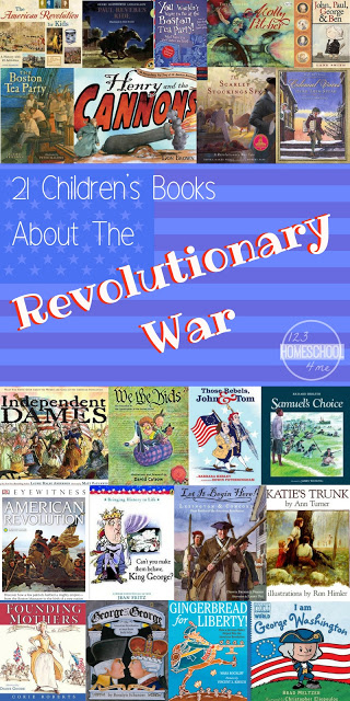 21 American Revolution Books for Kids to help kids have fun while making history come alive! Books about famous people, women, battles, cute stories, gingerbread for Liberty and more! #historyforkids #picturebooks #americanrevolution