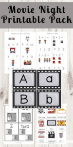 Movie Night Themed Worksheets