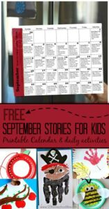 Summer may be winding down and back to school is on the horizon, but that is no reason to stop having fun and creating memories reading September stories and doing fun September Activities together! So download the free pdf file filled with September activity calendar with ideas for toddlers, preschoolers, kindergartners, first graders, 2nd graders, 3rd graders, and 4th graders.