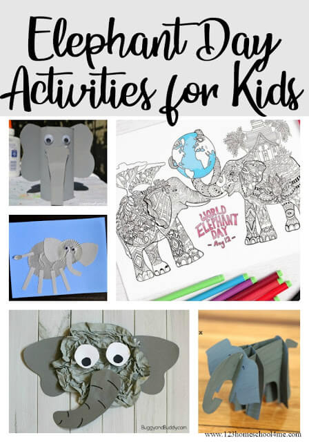 World Elephant Day Activities - Have fun celebrating this fun holiday August 12th with these fun elephant crafts and activities #worldelephantday #funholidays #preschool