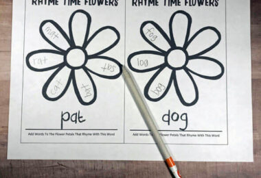 Flower-Rhyming-Words-Worksheets