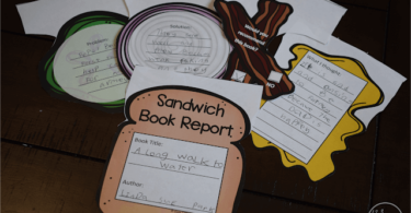 Sandwich Book Report Printable