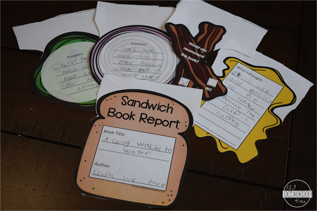 photo regarding Book Report Printable identified as Enjoyable Sandwich Guide Post Printable 123 Homeschool 4 Me