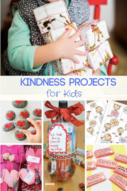 20 Kindness Projects for Kids - so many fun random acts of kindness ideas for families, and kids #kindness #kidsactivities #family