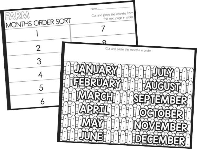 months of the year sequencing
