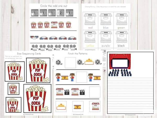 movie-theme-printables-pack-toddler-preschool-kindergarten-first-grade