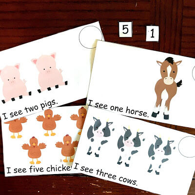 Counting Farm Animals Emergent Reader