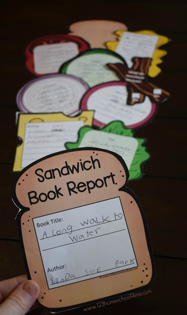 FREE Sandwich Book Report - this is such a fun, clever, and unique free printable book report idea! Print in color or black and white, perfect for kindergarten, first grade, 2nd grade, 3rd grade, 4th grade, 5th grade, and 6th grade kids to ensure reading comprehension. Such a fun book report idea. #bookreport #free #bookreportideas #kindergarten #firstgrade #homeschool #2ndgrade #homeschooling #3rdgrade #4thgrade #5thgrade