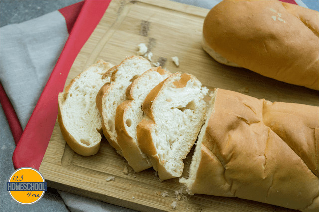 slice french loaf into thick 2 to 3 inch slices