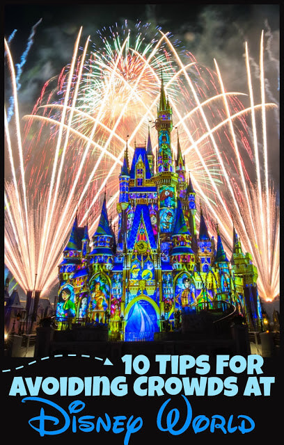 10 Tips for Avoiding Crowds at Disney World - so many great, clever, and easy to try tips to make disney less crowded #disneyworld #disneyvacation #disneyworldtips