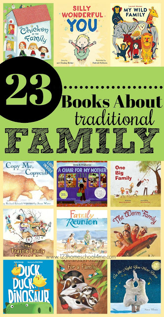 23 Picture Books about Traditional FAMILY - these are great book recommendations for kids to read about all aspects of being in a family. Great book list for reading aloud together. #families #bookrecommendations #booklist #preschool #kindergarten #firstgrade
