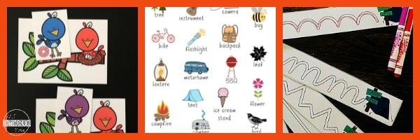 camping-language-arts-activities-preschool-kindergarten