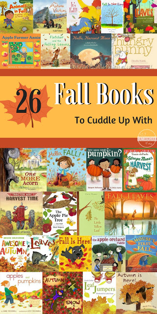 26 Fall Picture Books to Cuddle Up With - great book recommendations for families to read together this fall. This book list includes many favorite books for toddler, preschool, and kindergarten age kids #fall #preschool #bookrecommendations