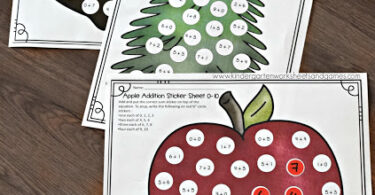 Free Sticker Addition Math Worksheets