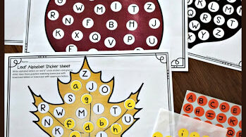 Free Alphabet Circle Sticker Worksheets