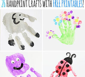 Alphabet Handprint Art