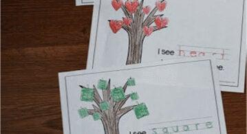 Leaf Shapes Emergent Reader