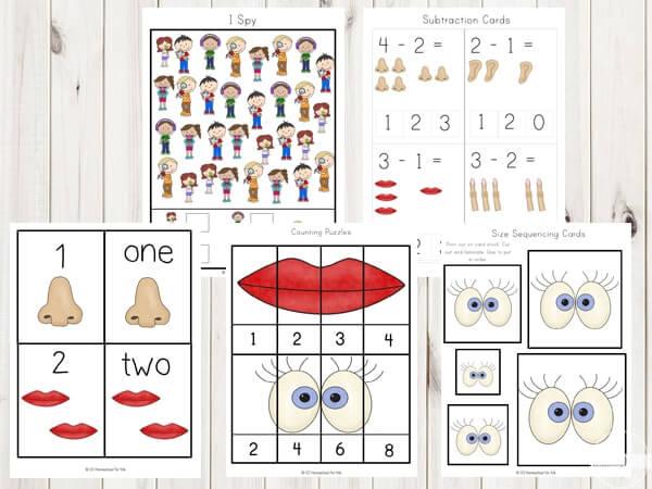 five-senses-worksheets-for-toddler-preschool-kindergarten-first-grade-free