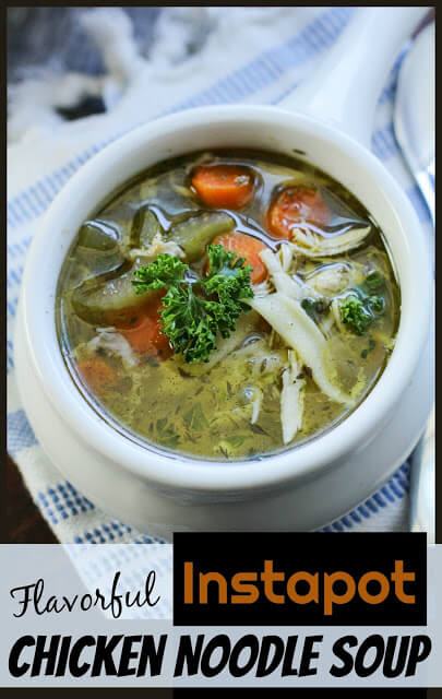 Easy Instapot Chicken Noodle Soup - after you try this hearty, incredibly flavorful, yummy, and good for you soup perfect for fall / winter / sick.