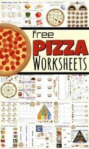 pizza worksheets