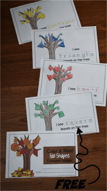 Leaf Shapes Emergent Reader