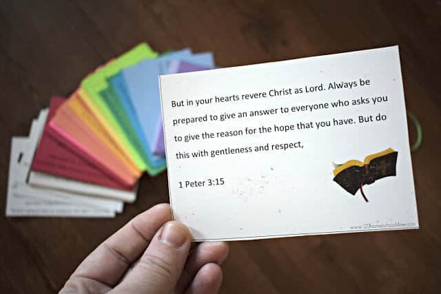 graphic regarding Books of the Bible Printable Cards known as Totally free Printable Bible Verses Playing cards 123 Homeschool 4 Me