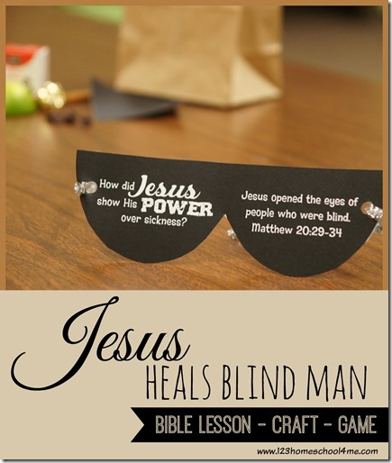 If you are looking for a fun Jesus heals the blind man craft and games for your Bible Lesson from Matthew 20:29-34, you are going to love all these resources! This Jesus heals the blind man craft printable is such a fun way for toddler, preschool, pre-k, kindergarten, first grade, 2nd grade, and 3rd grade students to remember this Sunday School Lesson about Jesus' miracles.
