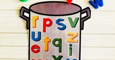Alphabet Soup Magnet Match Activity