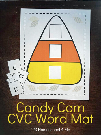 Candy Corn Sight Words Activity