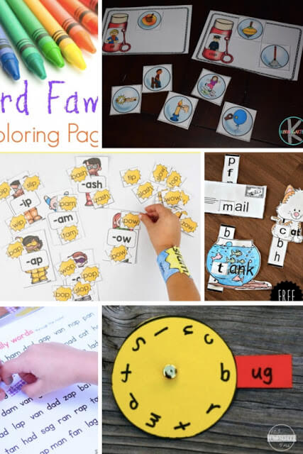 free-word-family-printables-activities-games-worksheets