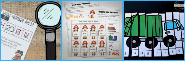 Community-Helpers-Theme -Math-Activities