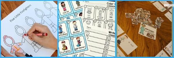 Community Helpers for Kids language arts activities