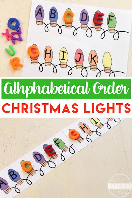 FREE Christmas Lights Christmas ABC Order