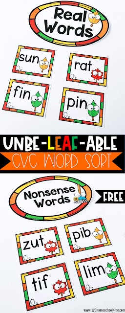 FREE-Printable-Fall-Nonsense Words-Activity