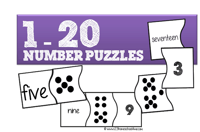 photo regarding Free Printable Number Fill in Puzzles named Free of charge Quantities 1-20 Puzzles 123 Homeschool 4 Me