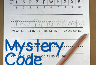 Mystery Code Sentences Plus Template