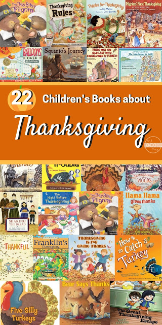 22 Thanksgiving Books for Kids - lots of fun, interesting and unique November books for kids #thanksgivingbooks #booksforkids #thanksgiving