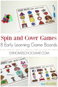 Turkey Spin and Cover Early Math for preschool and kindergarten