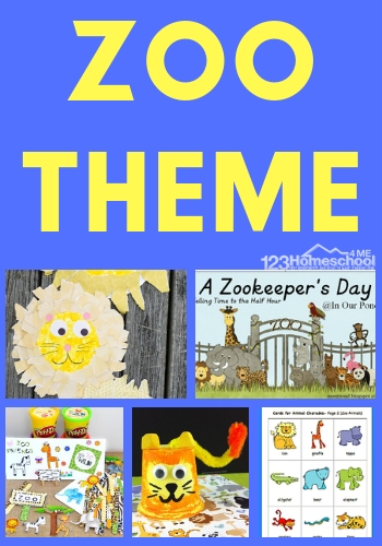 Zoo Theme - kids will have fun learning all subjects in this zoo unit. So many fun, creative activities, free zoo printables, and more for Kindergarten, first grade, 2nd grade, 3rd grade, 4th grade, and 5th grade kids. #themes #unitsforkids #homeschool #leanringisfun #zootheme #zoounit