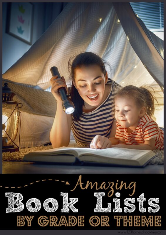 TONS of fantastic book lists for kids by theme or grade level book recommendations #booklist #bookrecommendations #booksforkids #bookstoread #readingisfun