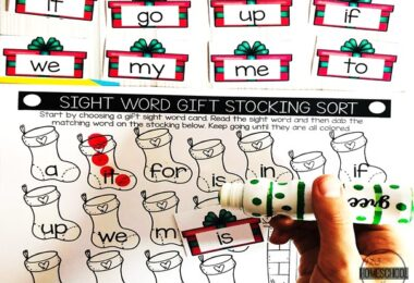Christmas Sight Word Match